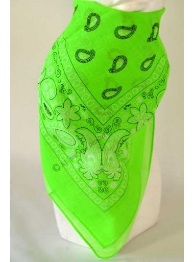 1 bandana vert fluo