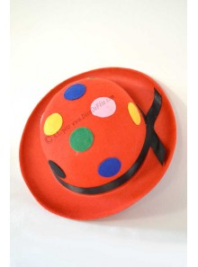 1 chapeau de clown multicolore