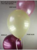 50 ballons ivoire nacré