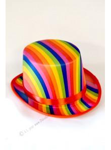 1 chapeau haut de forme  multicolore