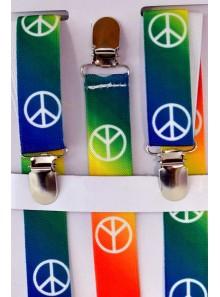 1 paire de bretelles peace and love
