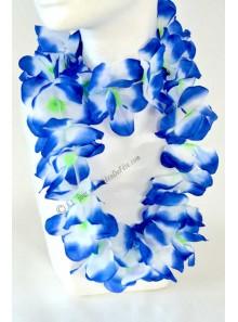 1 collier hawaï bleu