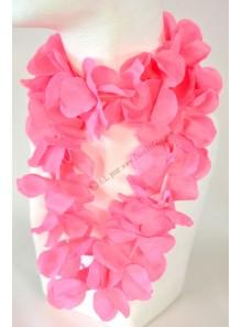 1 collier hawaï rose