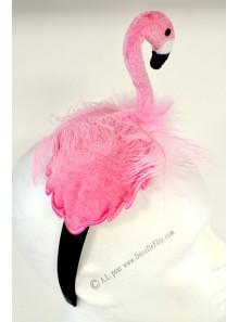 1 serre tête flamant rose