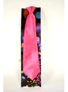 1 cravate rose fluo