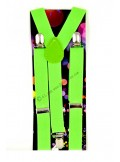 1 paire de bretelles vertes fluo
