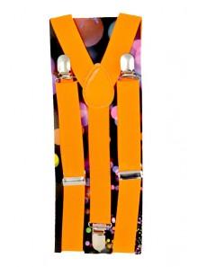 1 paire de bretelles orange fluo