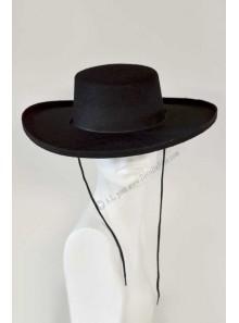 1 chapeau de gaucho noir
