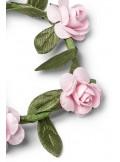 4 ronds de serviettes fleurs roses