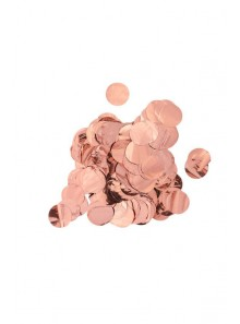 Gros Confettis rond Rose GOLD