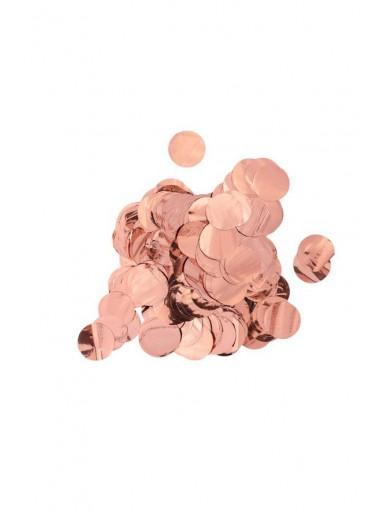 Gros Confettis rond Rose GOLD