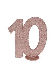 1 Chiffre anniversaire 10 rose gold