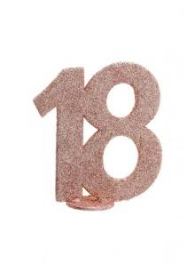 1 Chiffre anniversaire 18 rose gold