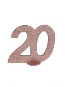 1 Chiffre anniversaire 20 rose gold