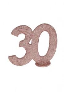 1 Chiffre anniversaire 30 rose gold