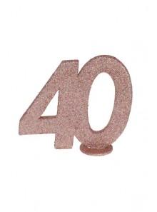 1 Chiffre anniversaire 40 rose gold
