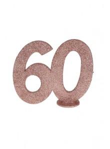 1 Chiffre anniversaire 60 rose gold