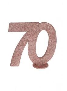 1 Chiffre anniversaire 70 rose gold