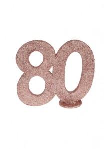 1 Chiffre anniversaire 80 rose gold