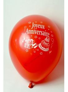 8 ballons ROUGE Joyeux Anniversaire