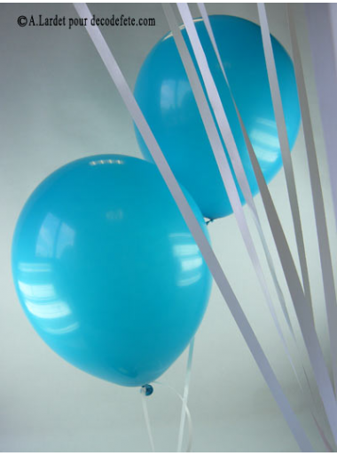 50 ballons turquoise biodégradables