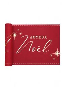 3M chemin de table JOYEUX Noel rouge