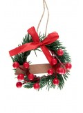 1 couronne sapin marque-place ROUGE