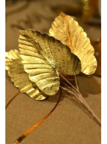6 mini feuilles exotiques OR