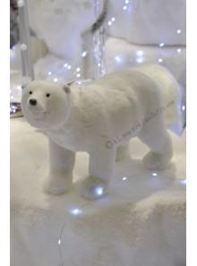 1 ours polaire blanc SACHA 26cm