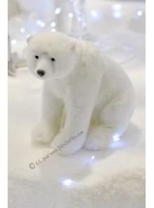 1 ourson polaire blanc OSCAR  14cm