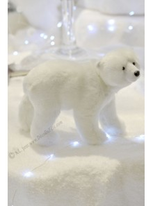 1 ourson polaire blanc GASPARD 16cm