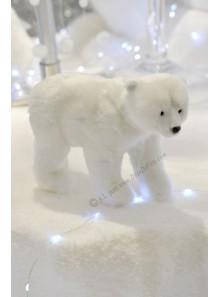 1 ourson polaire blanc VICTOR 16cm