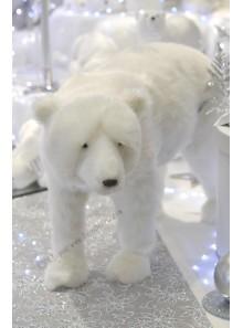 1 ours polaire blanc PROSPER 35cm