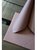 25 Serviettes jetables presto rose gold