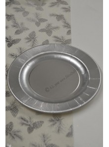 8 grandes assiettes RAY ARGENT