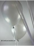 50 ballons argent nacré