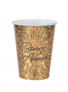 10 gobelets BONNE ANNEE etincelles