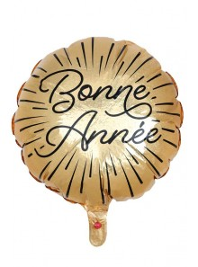 1 ballon BONNE ANNEE étincelles or