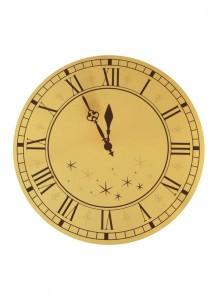 4 Sous assiettes REVEILLON horloge or
