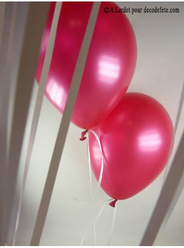 50 ballons fushia nacré