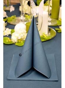 25 Serviettes jetables presto bleu canard