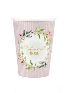 10 gobelets Mademoiselle ROSE eucalyptus