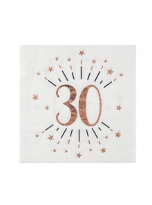 10 serviettes 30 ROSE GOLD