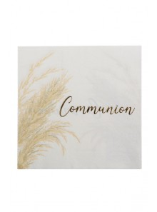 16 serviettes COMMUNION pampa