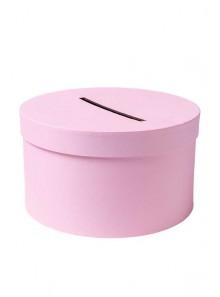 1 Urne tirelire ronde basse rose 25cm