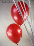 50 ballons rouge nacré
