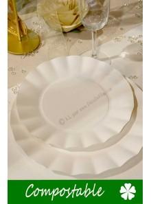 8 petites Assiettes HOME COMPOSTABLE blanc