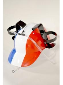 1 casque porte gobelets tricolore