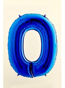 1 ballon CHIFFRE 0 BLEU ROY 102cm
