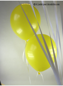 50 ballons jaune biodégradables
